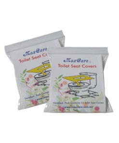 2 travel packs toilet seat covers